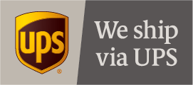 We ship via UPS