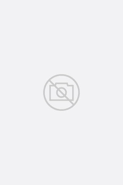 Denim Blouse with ruffled Stand-Up Collar